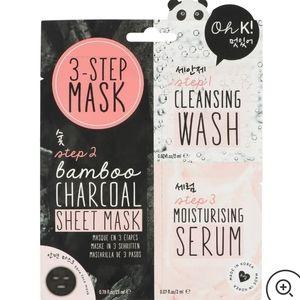 3/$25🎉 3 Step Bamboo Charcoal Mask Kit